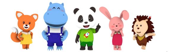 竹兜系列五个可爱的动漫形象代表着五种常见的小孩子性格:阳光正能量